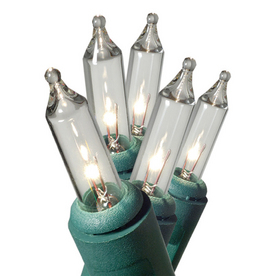 Shop GE 100-Count Clear Mini Christmas String Lights at Lowes.com