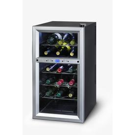 KALORIK 18-Bottle Black Dual Zone Wine Chiller