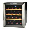KALORIK 16-Bottle Black and Stainless Steel Freestanding Wine Chiller