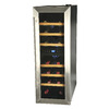 KALORIK 21-Bottle Black and Stainless Steel Dual Zone Freestanding Wine Chiller
