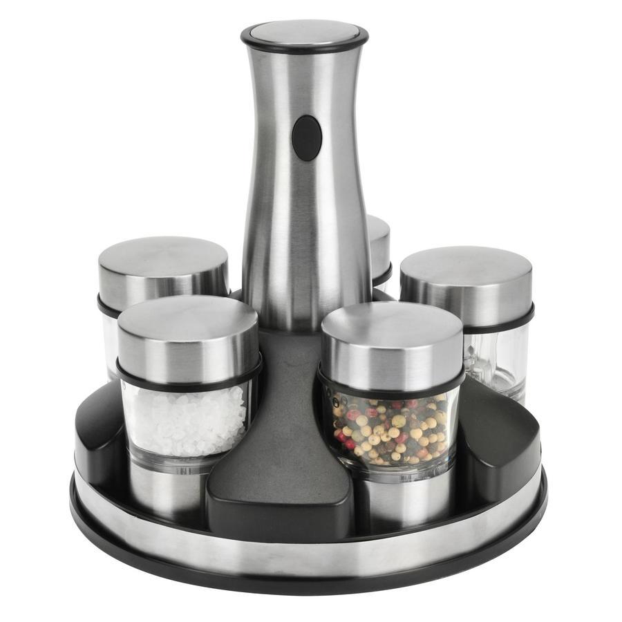 shop kalorik stainless steel pepper and salt grinder set. Black Bedroom Furniture Sets. Home Design Ideas