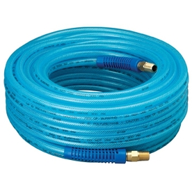 Kobalt 1/4-in x 100-ft Blue Polyurethane Air Hose
