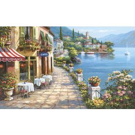 Shop environmental graphics overlook cafe wall mural at for Environmental graphics wall mural