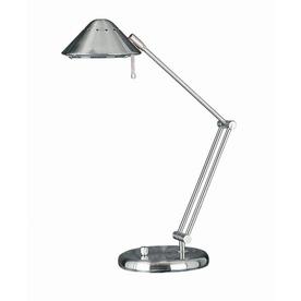 Lite Source 26-in Adjustable Steel-Painted Desk Lamp with Metal Shade