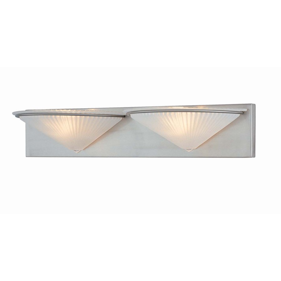 Shop Lite Source 2-Light Damon Frost Glass Shade Bathroom Vanity Light at Lowes.com