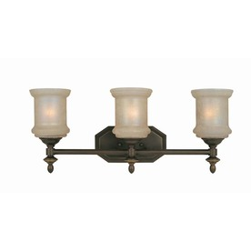Lite Source 3-Light Vashon Light Amber Bathroom Vanity Light LS-16413