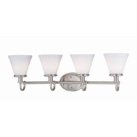 Shop Lite Source 4-Light Bastien Frost Glass Shade Bathroom Vanity ...