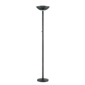 Lite Source 72-in Black Torchiere Indoor Floor Lamp with Metal Shade