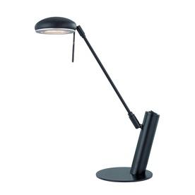 Lite Source 18.5-in Adjustable Black Desk Lamp with Metal Shade