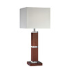 Lite Source 28-1/4-in Brown Table Lamp with White Shade