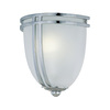 Lite Source 8.5-in H Chrome Wall-Mounted Lamp with Glass Shade