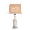 Lite Source 21-1/2-in White Table Lamp with Beige Shade