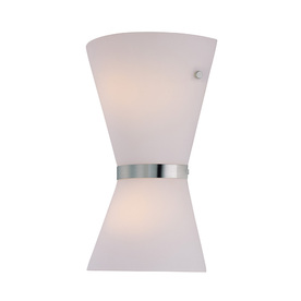 Lite Source 12.5-in H Steel-Painted Wall-Mounted Lamp with Glass Shade