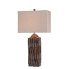 Lite Source 29-1/4-in Brown Table Lamp with Off-White Shade
