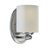 Lite Source 8-in H Steel-Painted Wall-Mounted Lamp with Glass Shade