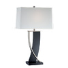 Lite Source 30-3/4-in Steel-Painted Table Lamp with Off-White Shade