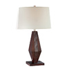Lite Source 28-in Brown Table Lamp with Off-White Shade