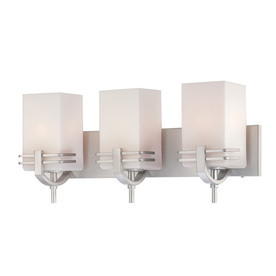Lite Source 9-3/4-in H Steel-Painted Wall-Mounted Lamp with Glass Shade