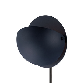 Lite Source 6-in H Black Wall-Mounted Lamp with Metal Shade