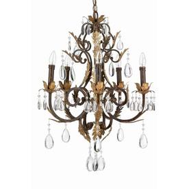 Lite Source Stedim 21-in 5-Light Bronze Standard Chandelier