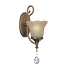 Lite Source 14-1/2-in H Copper Swing Arm Wall-Mounted Lamp with Glass Shade