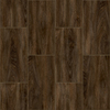 Congoleum LVT 10-Piece 12-in x 24-in Groutable Kokutan Glue (Adhesive) Wood Luxury Vinyl Tile