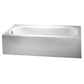 shop crane plumbing enameled steel bathtub with drain at