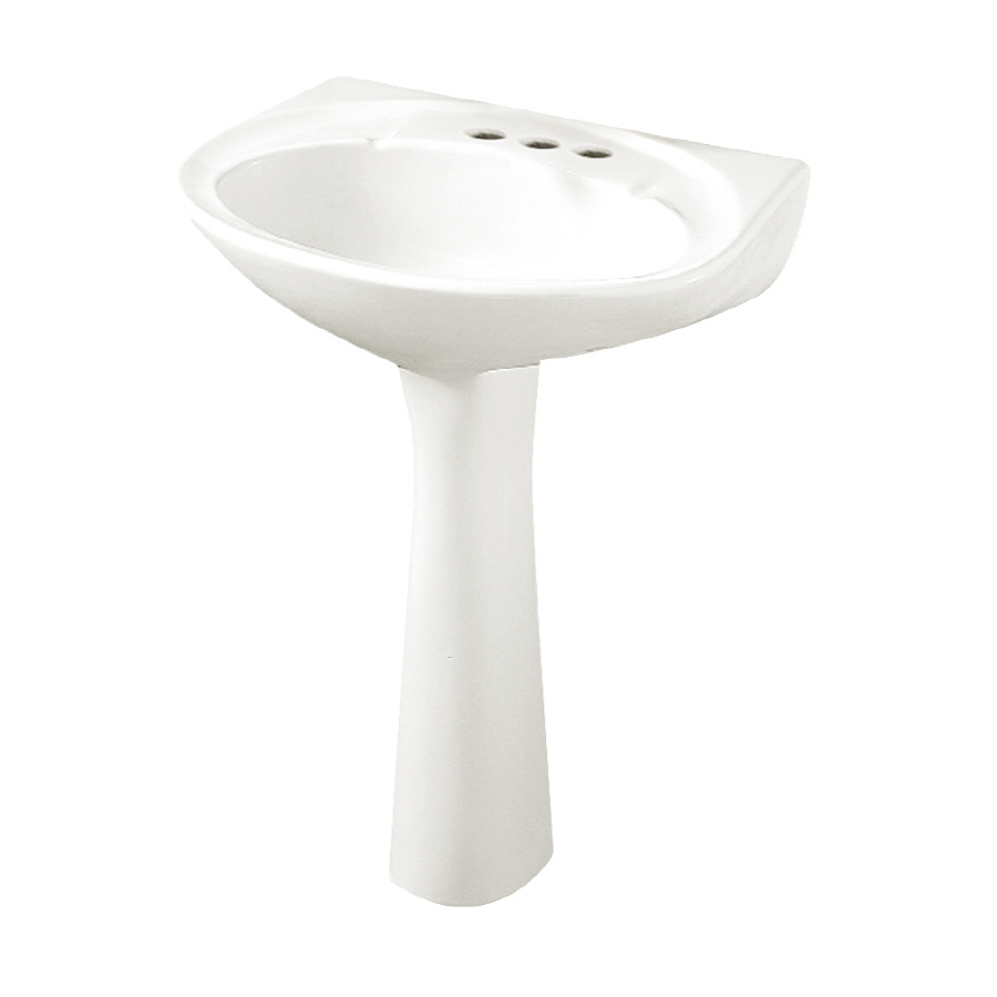 Shop Crane Atlanta White Complete Pedestal Sink at Lowes.com