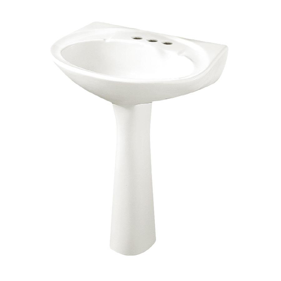 Shop Crane Atlanta White Complete Pedestal Sink At