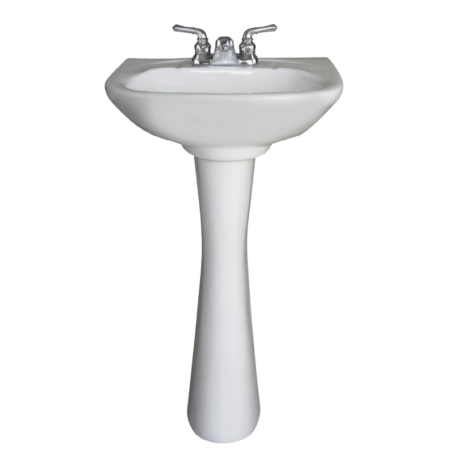 vitreous china complete pedestal sink drain included at