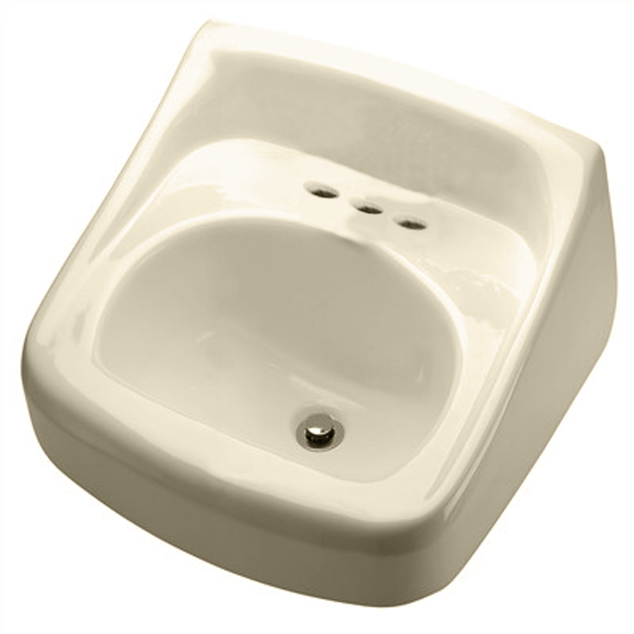 Shop Crane Plumbing Clayton Bone Wall-Mount Rectangular Bathroom Sink ...