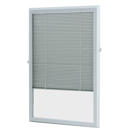 ODL 22-in x 36-in White Aluminum 5/8-in Slat Light Filtering  Cordless Mini-Blinds