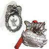 2-Pack Pewter Ornament Set