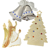Pewter Ornament Set with Lights