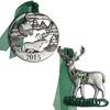 Pewter Deer Ornament Set with Lights