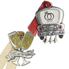 2-Pack Pewter Ornament Set