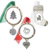 3-Pack Silvertone Ornament Set
