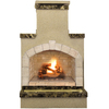 Cal Flame 55,000-BTU Brown Composite Outdoor Liquid Propane Fireplace