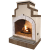 Cal Flame 55,000-BTU Tan Composite Outdoor Liquid Propane Fireplace