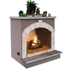 Cal Flame 55,000-BTU Beige Composite Outdoor Liquid Propane Fireplace