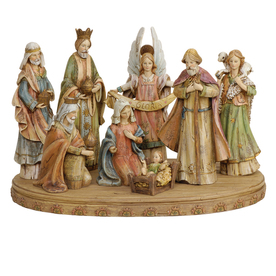 Joseph&#039;s Studio 8-Piece Christmas Resin Nativity Set