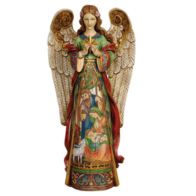 Joseph&#039;s Studio Christmas Resin Angel Figure with Holy Family