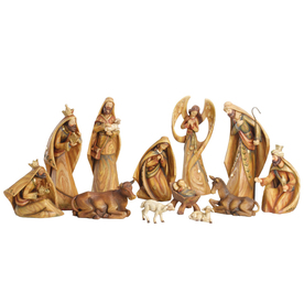 Roman Christmas Resin Driftwood Look Nativity Set