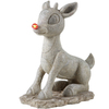 Rudolph the Red-Nosed Reindeer 20-in Christmas Resin Lighted Solar Rudolph Statue