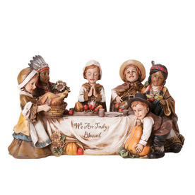 Joseph's Studio Resin Thanksgiving Scene