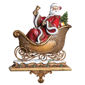 Joseph&#039;s Studio Santa and Deer Decorative Christmas Stocking Holder