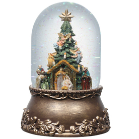 Glitterdome Christmas Resin Musical Nativity Glitterdome