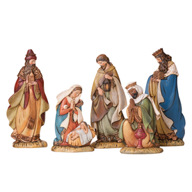 Joseph&#039;s Studio Christmas 5-Piece Resin Nativity Set