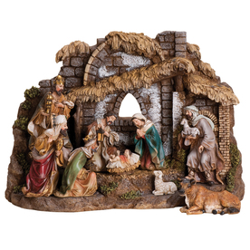 Joseph&#039;s Studio 10-Piece Christmas Resin Nativity Set