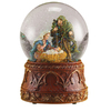 Glitterdome Christmas Resin Musical Holy Family Glitterdome